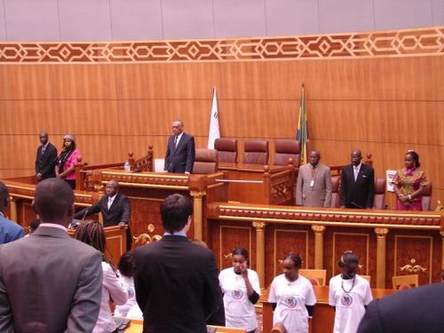 Ouverture de la quatrième session du PFJ par le Président du Sénat Gabonais