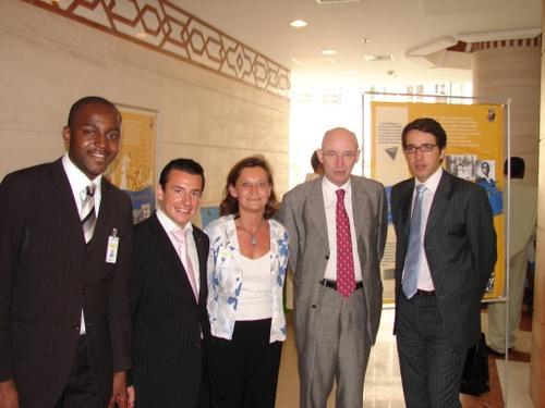 La délégation avec le Sénateur Jacques Legendre, Secrétaire Général de l'APF