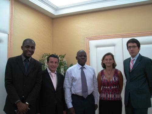Le ministre de l'Education Nationale Michel Menga